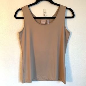 Chico's Taupe Microfeel Timeless Basic Knit Tank